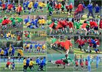 Junior rugby housematch collage