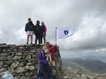 The Papplewick Flag at the top of Scafell Pike