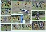 Collage of tries vs Woodcote under 11s